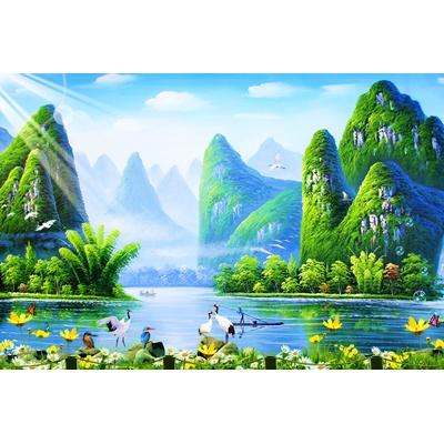 Tranh phong cảnh thiên nhiên sông nước
