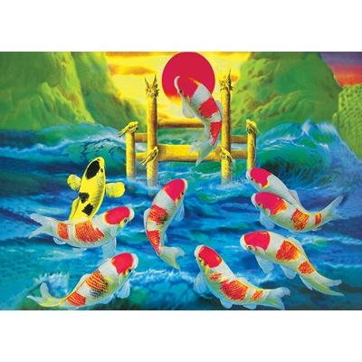Tranh cá vượt vũ môn 1