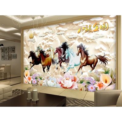 Tranh ngựa mã đáo 3D HGA01