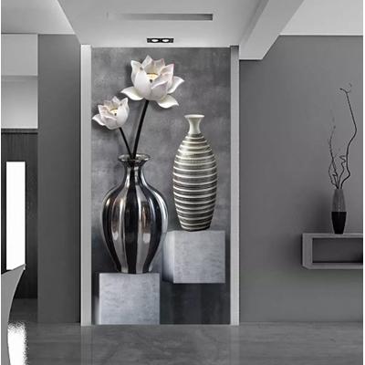 File tranh 3D hoa sen trang trí lối - LV01