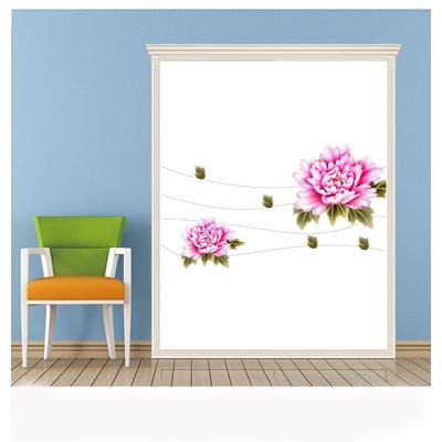 Mẫu họa tiết hoa cúc hồng - PD-40
