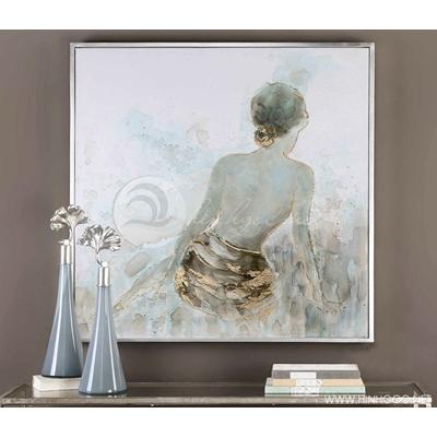 tranh trừu tượng sơn dầu cô gái - STTV-68