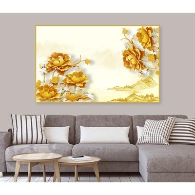 Tranh hoa sen vàng - STTV3-100