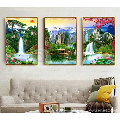 Hồ thác và núi - STTV3-79