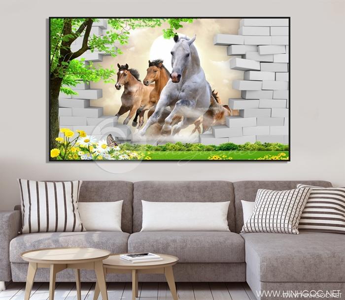 Ngựa và tường gạch  - STTV4-113