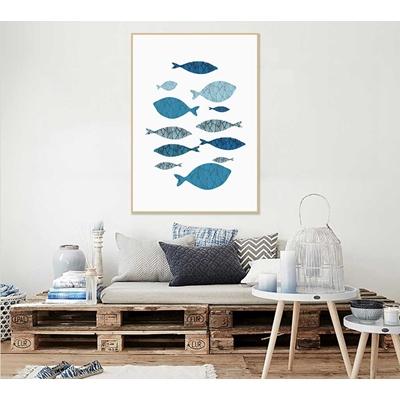 Mẫu trang trí tranh cá đơn giản - STTV5-02