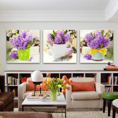 Tranh bộ hoa lavender TB02