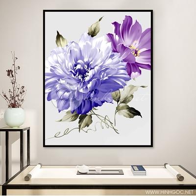 Hoa màu nước nghệ thuật TBAV12-100