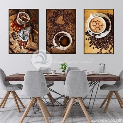 ba bức trang trí quán coffee - TBAV12-12