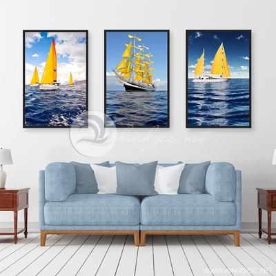 bộ ba trang trí thuyền biển - TBAV12-13