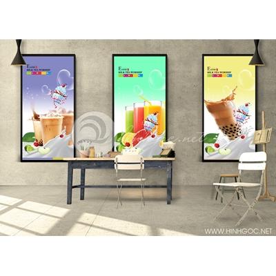 Trang trí quán trà sữa - TBAV12-54