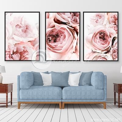 hoa hồng trang trí nghệ thuật ba bức - TBAV12-59