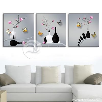 ba bức bình hoa trang trí - TBAV12-76