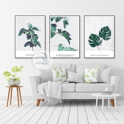 ba bức lá nhiệt đới nghệ thuật đẹp - TBAV12-77