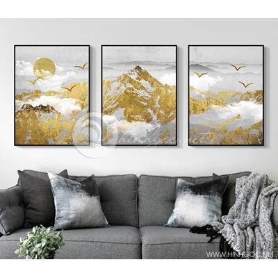trừu tượng núi dát vàng kim sơn - TBAV12-79