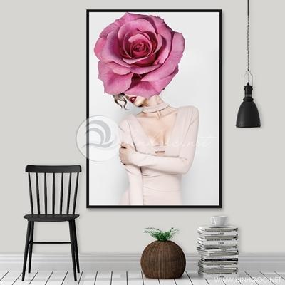 cô gái và hoa trang trí - TBAV12-85
