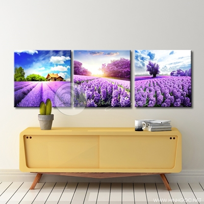 ba bức phong cảnh màu tím - TBAV12-96