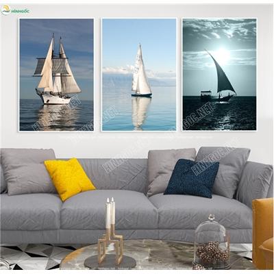Tranh phong cảnh thuyền và biển TBAV6-73