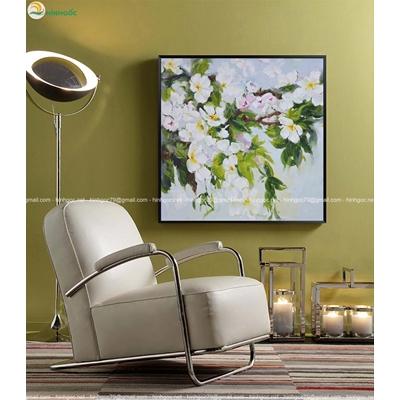 Tranh sơn dầu cành hoa TBAV7-04