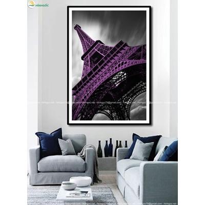 Tranh tháp Eiffel đổi màu TBAV8-12