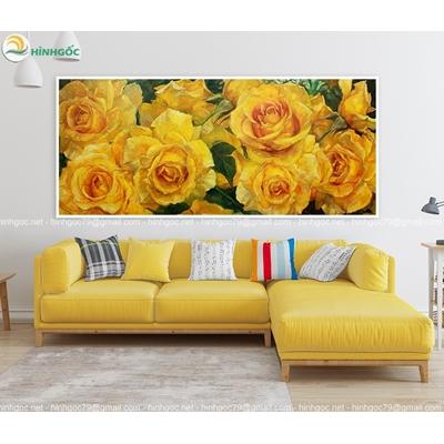 Tranh hoa hồng vàng TBAV8-57