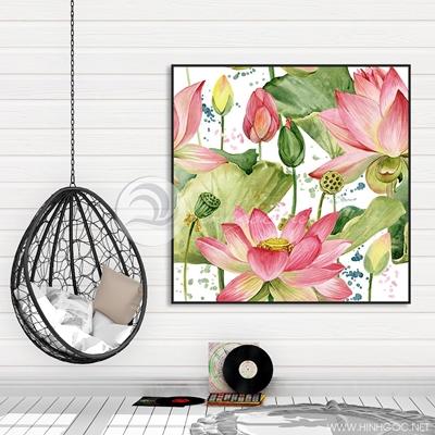 Tranh hoa sen hồng - TT208