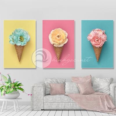 Bộ ba cây kem hoa - TT212