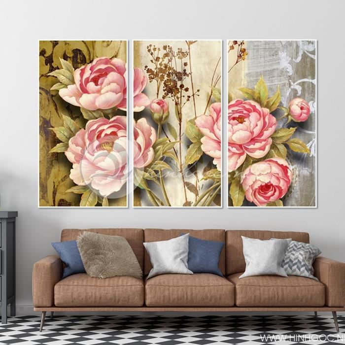 Tranh bộ hoa hồng - TT253