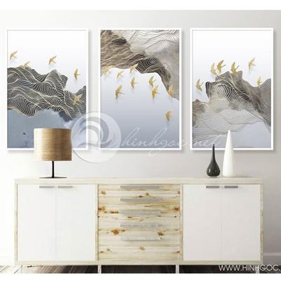 Trừu tượng đàn chim vàng- TT271