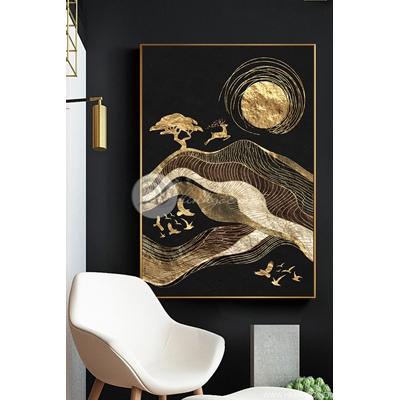 Trừu tượng hươu vàng kim 3D - TT279