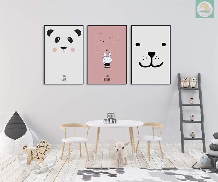 Tranh bộ panda ngộ nghĩnh TV805