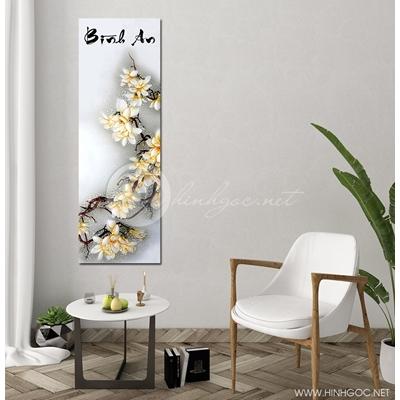 Tranh nhành hoa trắng - AB-87