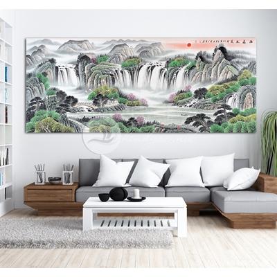 Phong cảnh núi non và thác nước-BEN07