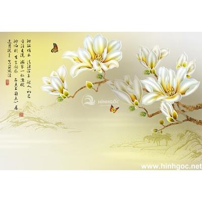 Mẫu tranh hoa sen trắng-BJ-024