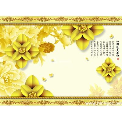 Tranh trang trí bông hoa vàng-BJ-063