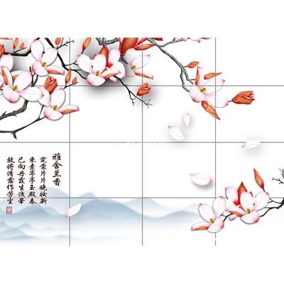 Tranh trang trí họa tiết hoa-BJ-105