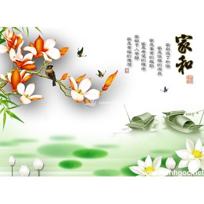 Tranh trang trí họa tiết hoa-BJ-106