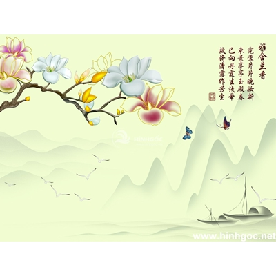 Tranh trang trí họa tiết hoa-BJ-107