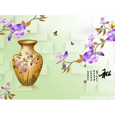 Tranh trang trí họa tiết hoa-BJ-118