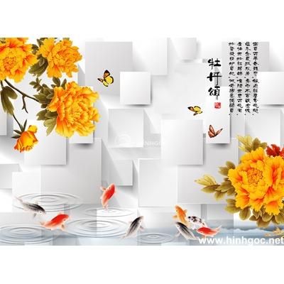 Tranh trang trí cành hoa trắng-BJ-125