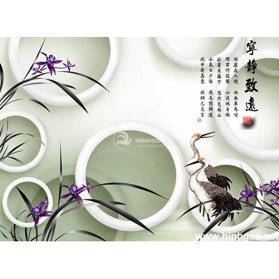 Tranh trang trí cành hoa trắng-BJ-127