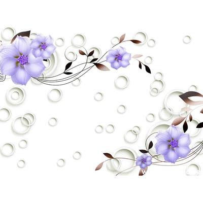 Tranh trang trí cành hoa tím-BJ-141