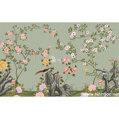 Tranh trang trí cành hoa -BJ-183