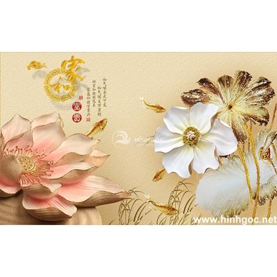 Tranh trang trí hoa sen-BJ-185