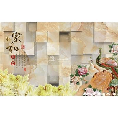 Tranh trang trí cành hoa vàng -BJ-188