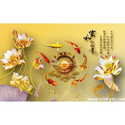 Tranh trang trí hoa sen-BJ-189