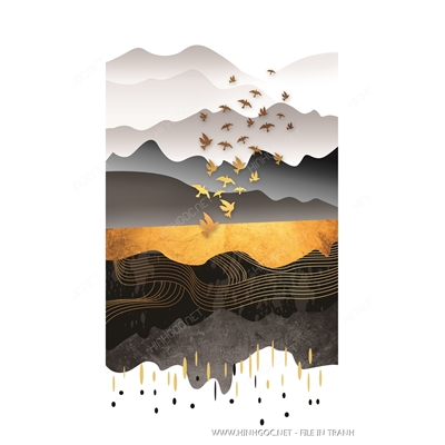 Trừu tượng vàng kim - BTT161
