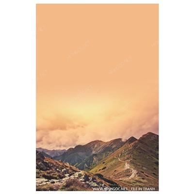 Phong cảnh ngọn núi - BTT302