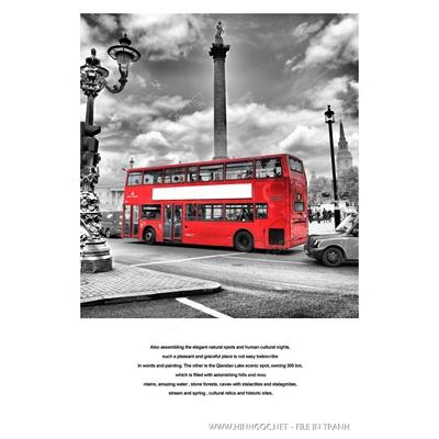 Xe bus màu đỏ - BTT310