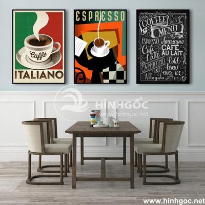Bộ 3 tranh tách ly cà phê ngọt ngào ngày mới-COF-14